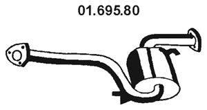 Средний глушитель выхлопных газов EBERSPÄCHER 01.695.80