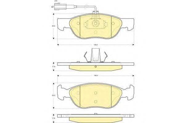 GIRLING (НОМЕР: 6114862) Комплект тормозных колодок, дисковый тормоз