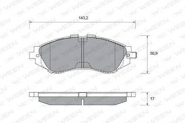 Комплект тормозных колодок, дисковый тормоз WEEN 151-1109