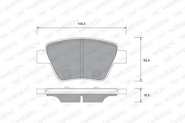 Комплект тормозных колодок, дисковый тормоз WEEN 151-2733