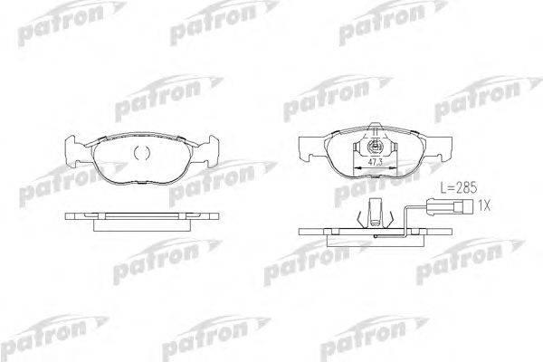 PATRON (НОМЕР: PBP1040) Комплект тормозных колодок, дисковый тормоз