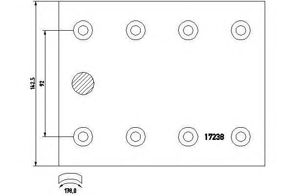 Комплект тормозных башмаков, барабанные тормоза TEXTAR 1723802