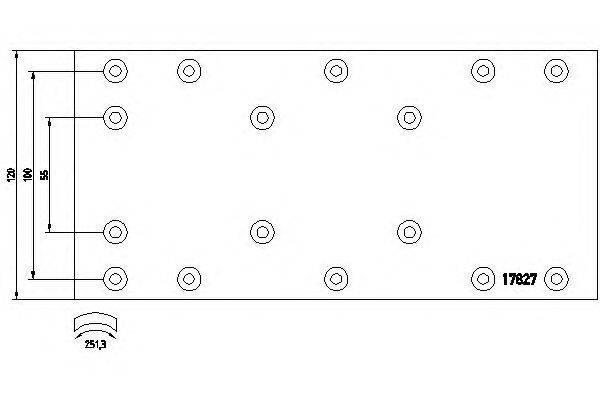 Комплект тормозных башмаков, барабанные тормоза TEXTAR 1782704