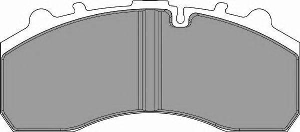 FERODO (НОМЕР: FCV1598BFE) Комплект тормозных колодок, дисковый тормоз