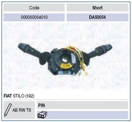 Выключатель на колонке рулевого управления MAGNETI MARELLI 000050054010