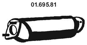 Предглушитель выхлопных газов EBERSPÄCHER 01.695.81