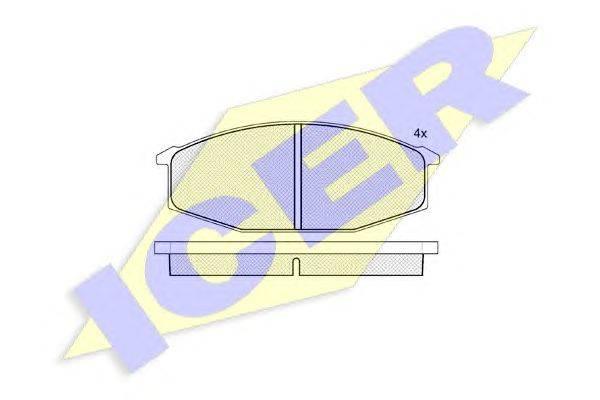 Комплект тормозных колодок, дисковый тормоз ICER 140315