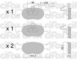 CIFAM (НОМЕР: 822-079-0) Комплект тормозных колодок, дисковый тормоз