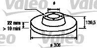 VALEO (НОМЕР: 187130) Тормозной диск
