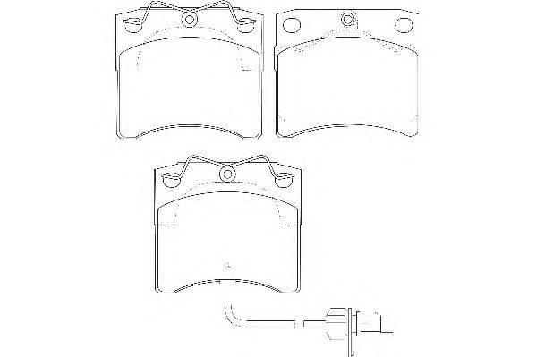 Комплект тормозных колодок, дисковый тормоз WAGNER WBP20651A