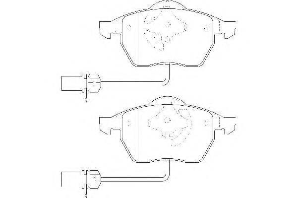Комплект тормозных колодок, дисковый тормоз WAGNER WBP20676B