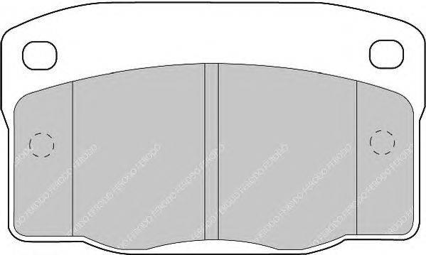 FERODO (НОМЕР: FDB1035) Комплект тормозных колодок, дисковый тормоз