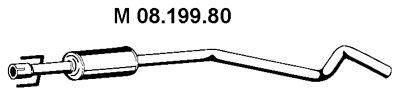 Средний глушитель выхлопных газов EBERSPÄCHER 08.199.80