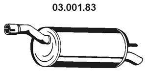 Глушитель выхлопных газов конечный EBERSPÄCHER 03.001.83