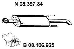 Глушитель выхлопных газов конечный EBERSPÄCHER 08.397.84