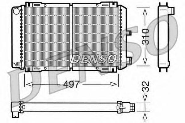 Радиатор, охлаждение двигателя NPS DRM10031