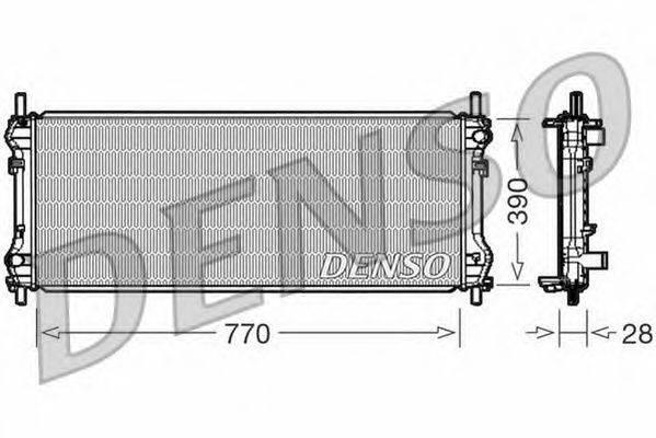 Радиатор, охлаждение двигателя NPS DRM10103