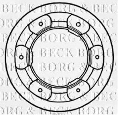 BORG & BECK (НОМЕР: BBD5957S) Тормозной диск