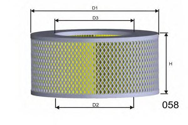 Воздушный фильтр MISFAT R172