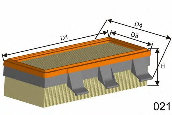 MISFAT (НОМЕР: PM801) Воздушный фильтр