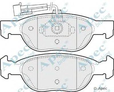 APEC braking (НОМЕР: PAD949) Комплект тормозных колодок, дисковый тормоз