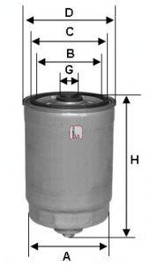 SOFIMA (НОМЕР: S 1810 NR) Топливный фильтр