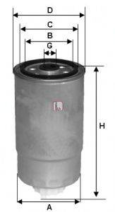 SOFIMA (НОМЕР: S 1H2O NR) Топливный фильтр