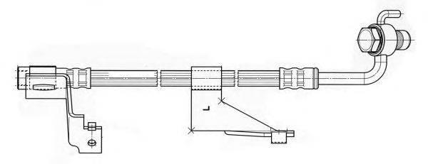 Тормозной шланг CEF 512270