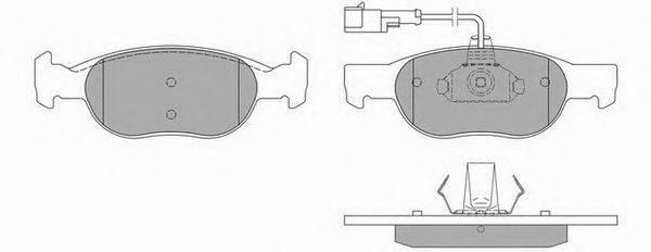 SIMER (НОМЕР: 646) Комплект тормозных колодок, дисковый тормоз