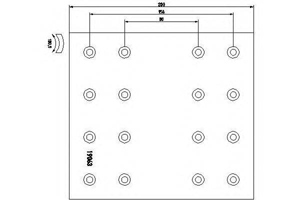 Комплект тормозных башмаков, барабанные тормоза TEXTAR 1906303
