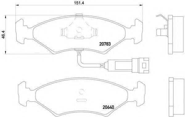 Комплект тормозных колодок, дисковый тормоз MINTEX MDB1174