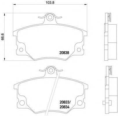 Комплект тормозных колодок, дисковый тормоз MINTEX MDB1240