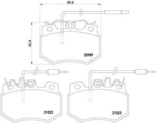 Комплект тормозных колодок, дисковый тормоз MINTEX MDB1327
