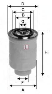 SOFIMA (НОМЕР: S 0410 NR) Топливный фильтр