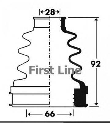Пыльник, приводной вал FIRST LINE FCB2900