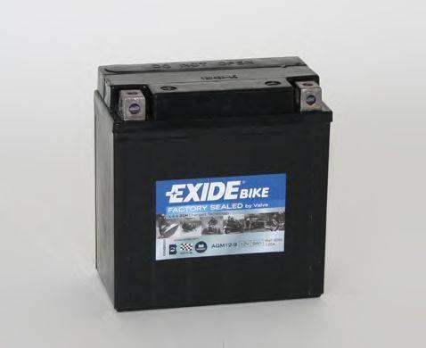 Стартерная аккумуляторная батарея EXIDE AGM12-9