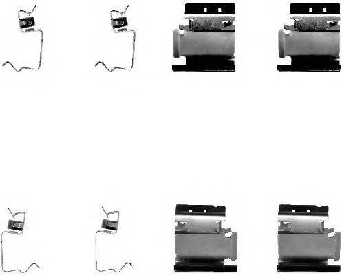 Комплектующие, колодки дискового тормоза MINTEX MBA1218