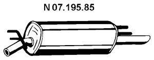 Глушитель выхлопных газов конечный EBERSPÄCHER 07.195.85