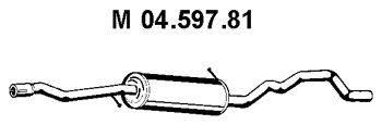 Средний глушитель выхлопных газов EBERSPÄCHER 04.597.81