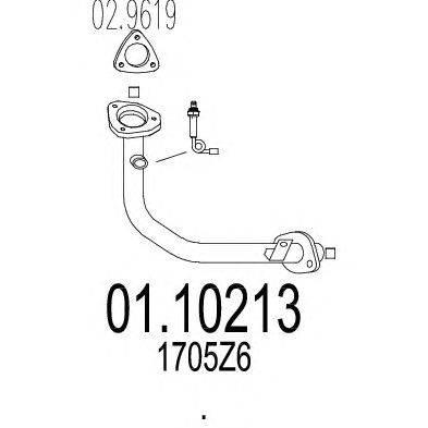 Труба выхлопного газа MTS 01.10213