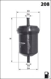 Топливный фильтр MECAFILTER ELE6043