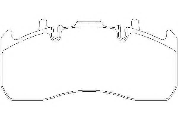 Комплект тормозных колодок, дисковый тормоз DON CVP100K