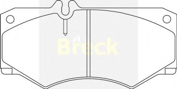 Комплект тормозных колодок, дисковый тормоз BRECK 20784 00 703 10
