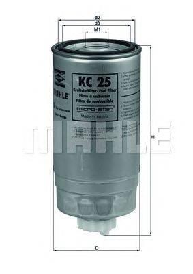 Топливный фильтр MAHLE ORIGINAL KC25