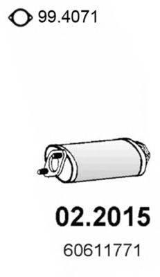 Предглушитель выхлопных газов ASSO 02.2015