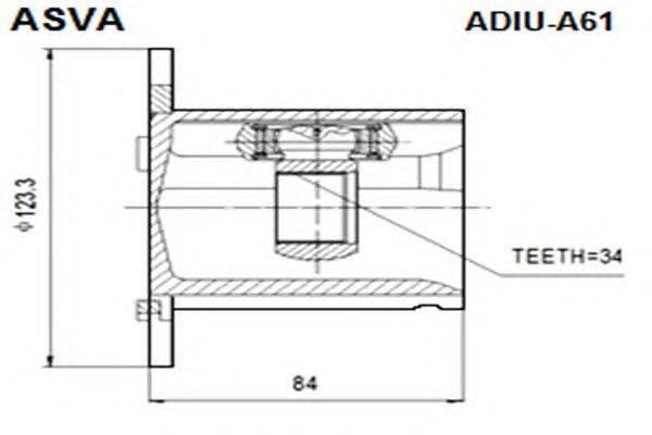 Шарнирный комплект, приводной вал ASVA ADIU-A61