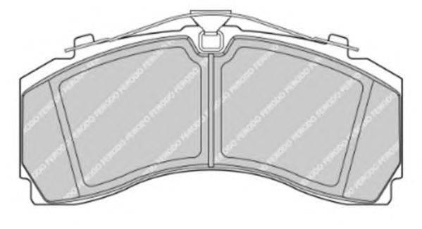 FERODO (НОМЕР: FCV4417PTS) Комплект тормозных колодок, дисковый тормоз