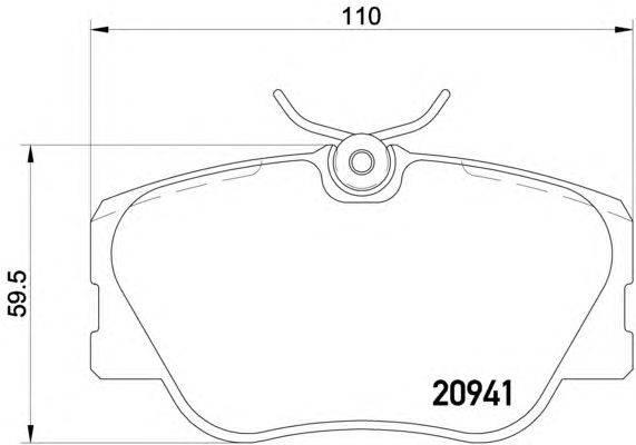 Комплект тормозных колодок, дисковый тормоз MINTEX MDB1312
