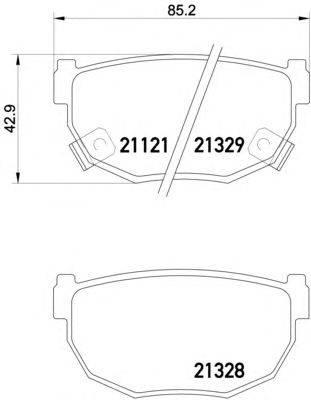 Комплект тормозных колодок, дисковый тормоз MINTEX MDB1295