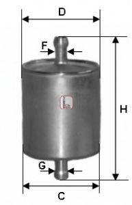 SOFIMA (НОМЕР: S 1836 B) Топливный фильтр